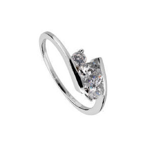 Photo of 9CT White Gold Cubic Zirconia Ring  N Jewellery Woman