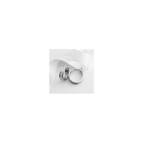 Sterlling Silver Cubic Zirconia Hoops