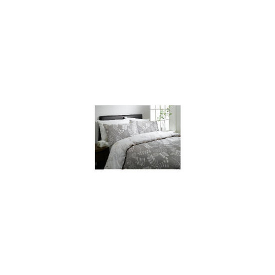 Tesco Leaf Print King Duvet Set, Natural