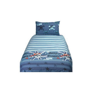 Photo of Tesco Kids Skull & Crossbone Duvet Set Bed Linen