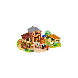 Photo of Tesco Wooden Farm Set Toy