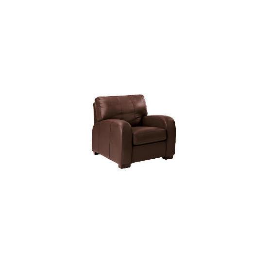 Memphis Leather Armchair, Espresso