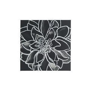Photo of Monochrome Flower Canvas 50X50CM Home Miscellaneou