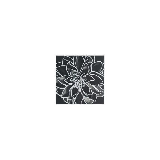 Monochrome Flower Canvas 50X50cm