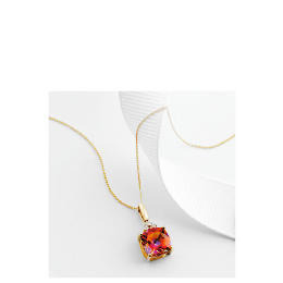 9ct Gold Azotic Topaz and Diamond Pendant Reviews
