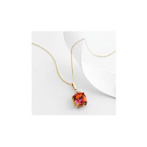Photo of 9CT Gold Azotic Topaz and Diamond Pendant Jewellery Woman