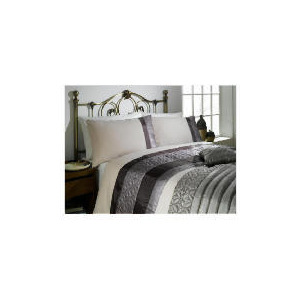 Photo of Tesco Geo Quilted Cuff King Duvet Set, Mocha Bed Linen
