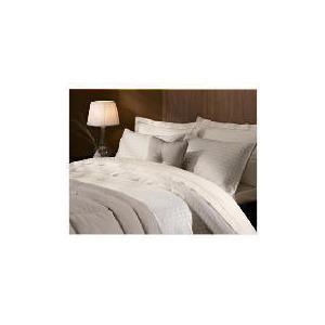 Photo of Hotel 5* Duvet Jaquard Check Set Double Beige Bed Linen