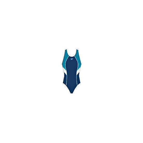 "Speedo Womans Rush one piece swimsuit (Thunder Blue) Size 38"""