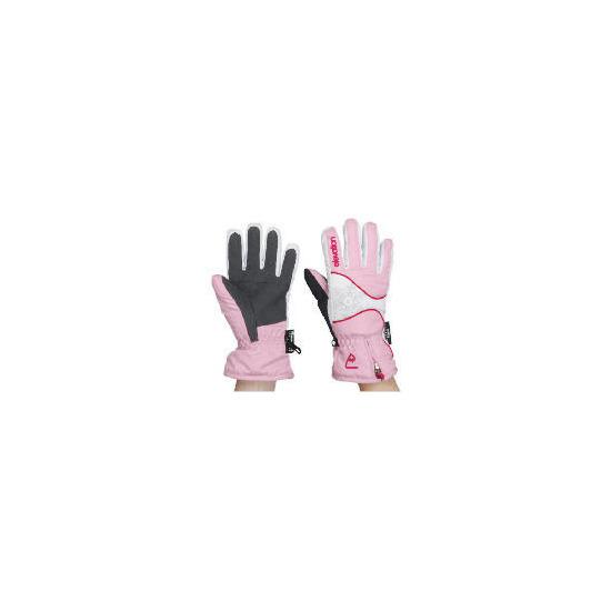Elevation Snow Pink Ski Gloves Small