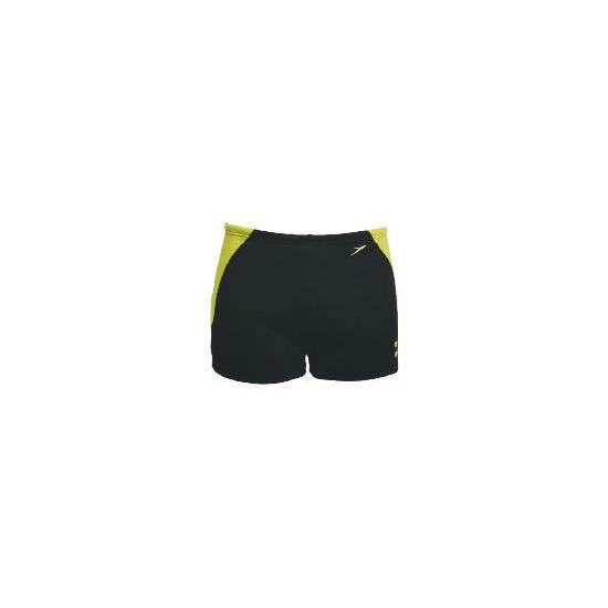 "Speedo Mens propel shorts  (Black/ Acadia/ Union) size 38"""