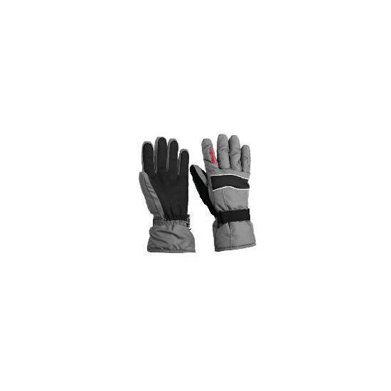 Elevation Snow Black Ski Gloves Large
