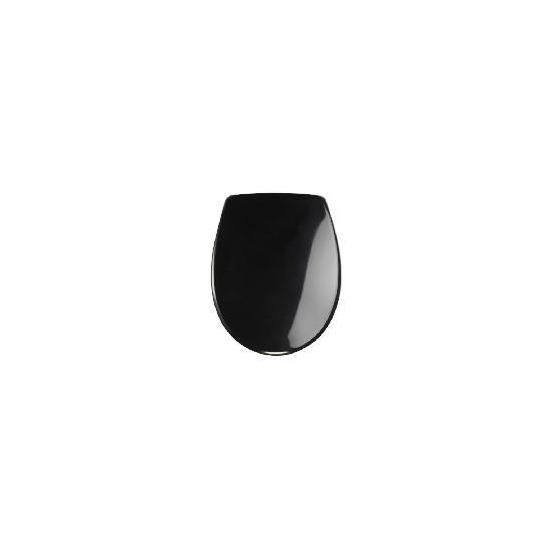 Tesco scratch resistant soft close plastic toilet seat black