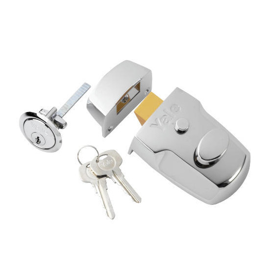Yale Door lock - P77 Nightlatch Modern Chrome