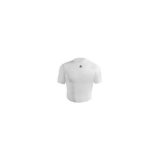 Short Sleeve Bodyshirt Crew Neck (WHITE adult large)