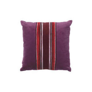 Photo of Tesco Velvet Piped Cushion , Plum Cushions and Throw