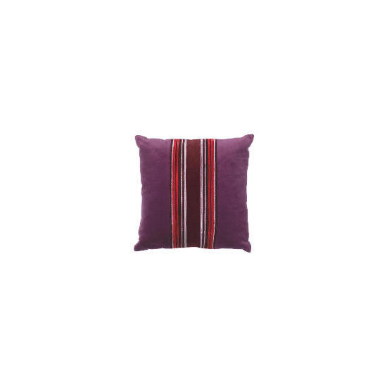 Tesco Velvet Piped Cushion , Plum