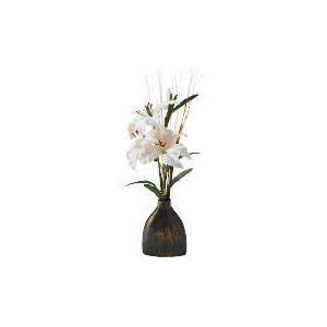 Photo of White Lillies In Ceramic Scratch Vase Home Miscellaneou