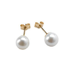 Photo of 9CT Gold Freshwater Pearl Studs Jewellery Woman