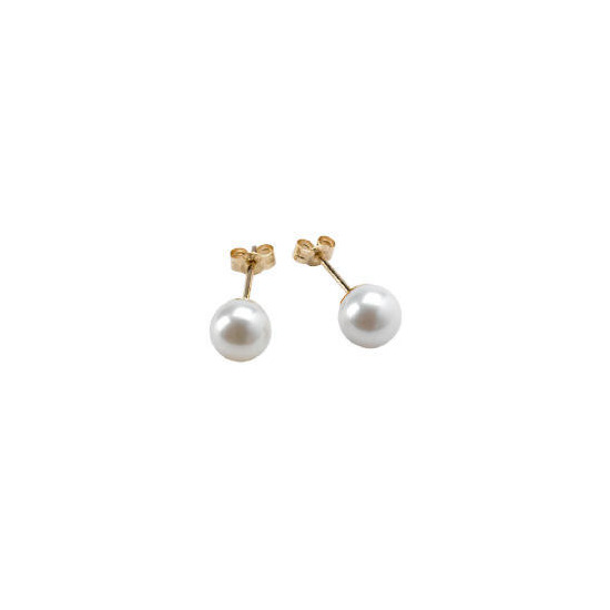 9ct gold freshwater pearl studs