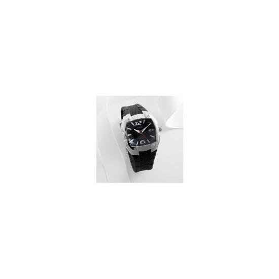 Lorus mens dial date black resin strap 100m