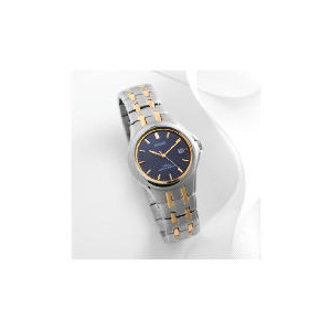 Photo of Pulsar Mens Two Tone Blue Dial Alarm Chrono 100M Dress Watch Watches Man