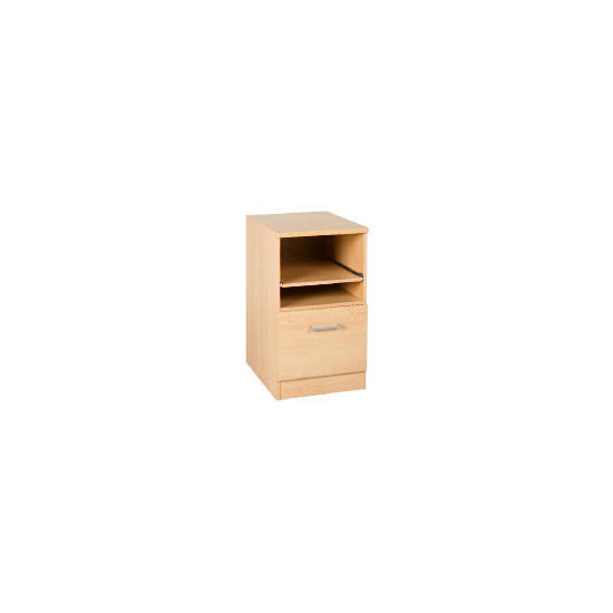 Beech Modular Filing Cabinet With Pull Out Shelf