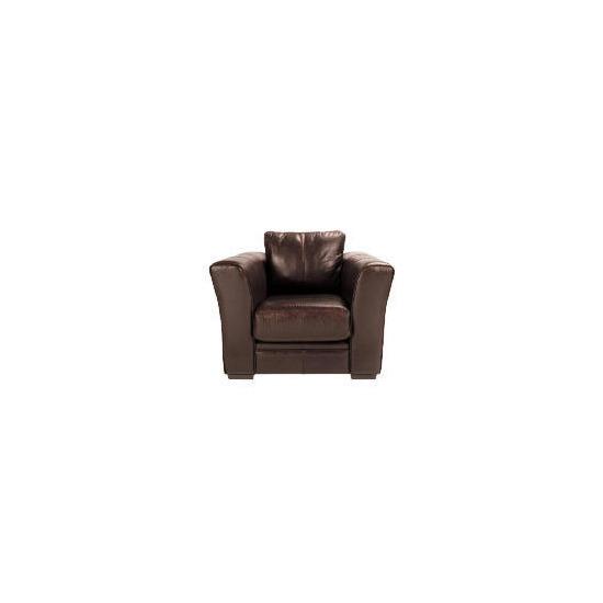 Newport Leather Armchair, Chestnut