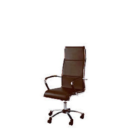Trenton High back office chair, Brown faux leather Reviews