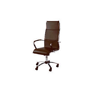 Photo of Trenton High Back Office Chair, Brown Faux Leather Office Furniture