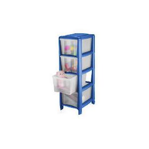 Photo of Tesco Slim 4 Drawer Cart Blue Household Storage