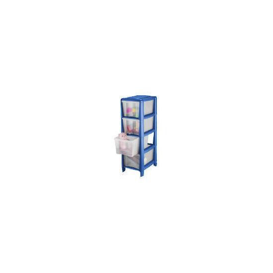 Tesco slim 4 drawer cart blue