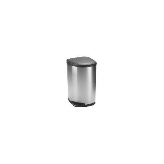 Simplehuman 38L corner bin with plastic lid
