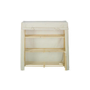 Photo of Tesco Canvas Covered 3 Shelf Unit Small Household Storage