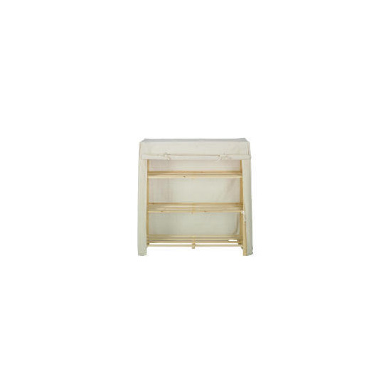 Tesco canvas covered 3 shelf unit small