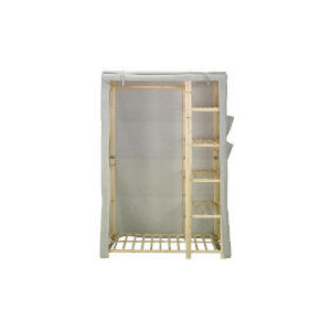 Photo of Tesco Recycled Fabric Covered Wardrobe Household Storage