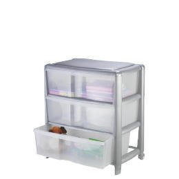 Tesco wide 3 drawer cart silver Reviews