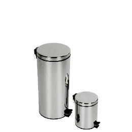 Tesco 30 and 5L brushed stainles steel bin set Reviews
