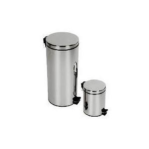 Photo of Tesco 30 and 5L Brushed Stainles Steel Bin Set Bin