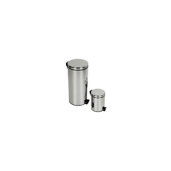 Tesco 30 and 5L brushed stainles steel bin set