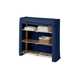 Photo of Tesco Kids Canvas Covered Shelves Blue Household Storage
