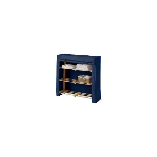 Tesco kids canvas covered shelves blue