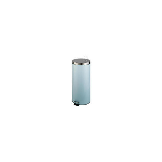 Tesco 30L stainless steel bin duck egg blue