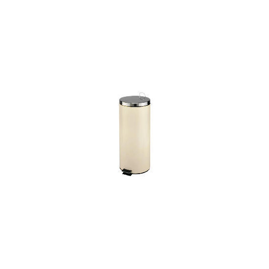 30L cream stainless steel bin