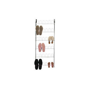 Photo of Tesco Chrome Over The Door Shoe Rack Household Storage