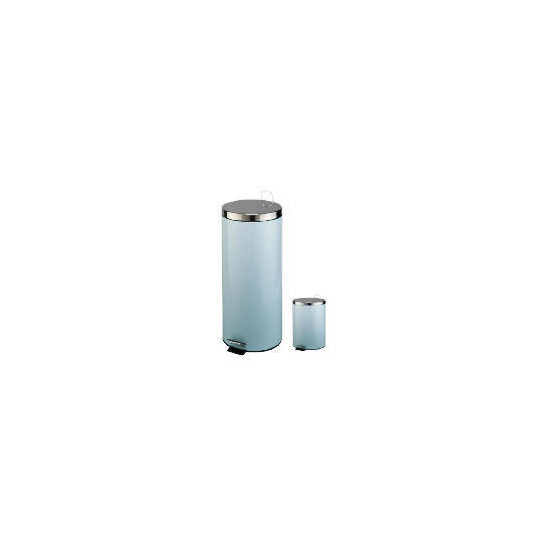 Tesco 30 and 5L blue pedal bin set