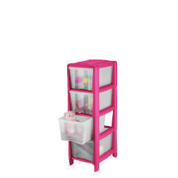 Tesco slim 4 drawer cart pink Reviews