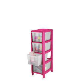 Tesco slim 4 drawer cart pink Reviews