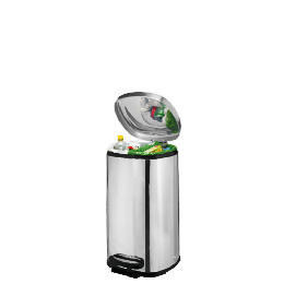 Tesco 40L square polished stainless steel  recycling bin Reviews