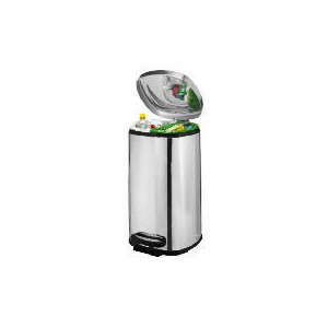 Photo of Tesco 40L Square Polished Stainless Steel  Recycling Bin Bin